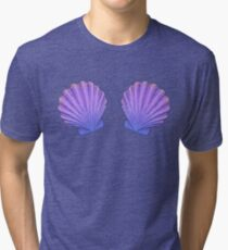 Mermaid Seashell Bra Ornament  Tri-blend T-Shirt
