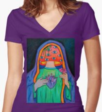Sacred Hallucinations Women's Fitted V-Neck T-Shirt