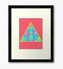 cool electric triangular space Framed Print