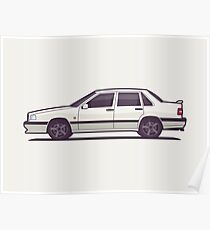 Volvo 850 T-5R Saloon (White) Poster