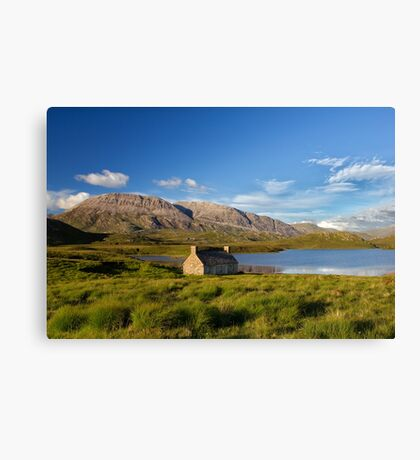 Old Scottish Croft Beside The Loch Canvas Print