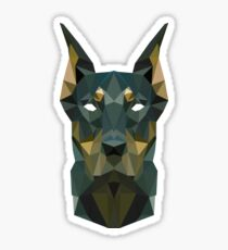 Dobermann Geo Sticker