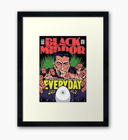 Black Christmas Framed Print