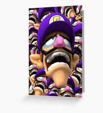 WALUIGI LOSE Greeting Card