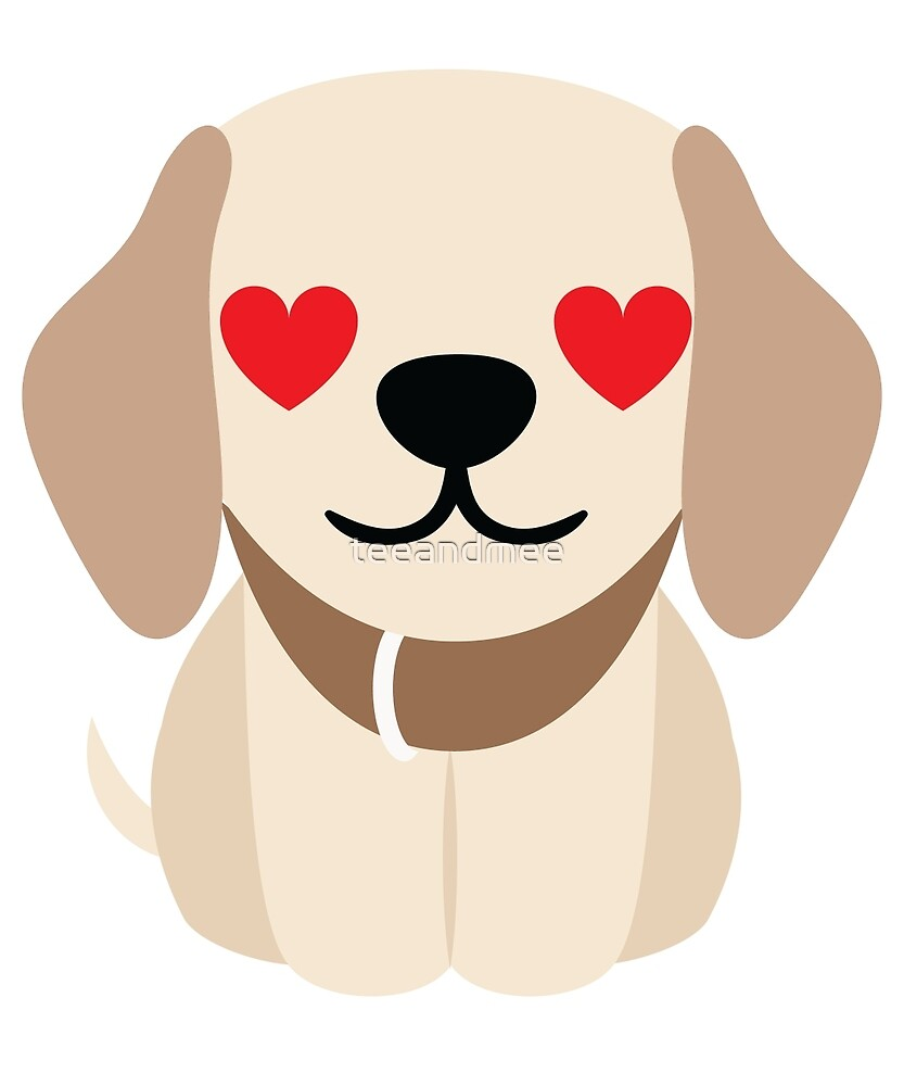 Quot Golden Retriever Dog Emoji Heart And Love Eyes Quot By