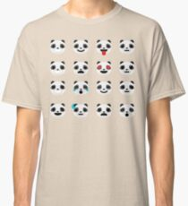 Emoji Panda Different Facial Expression Classic T-Shirt
