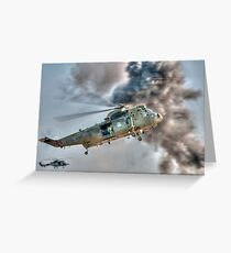 Royal Navy Sea King Helicopter Greeting Card
