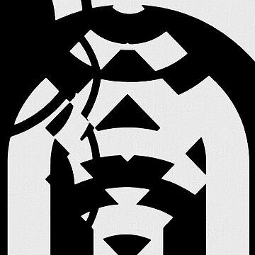 Black White Pattern Aztec Zig Zag Pattern  by OCDesigns2