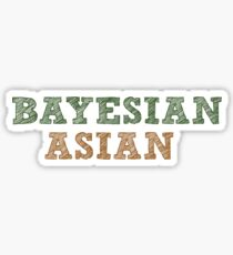 bayesian asian Sticker