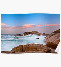 Big Rocks, Slopey Rocks, Margaret River Poster