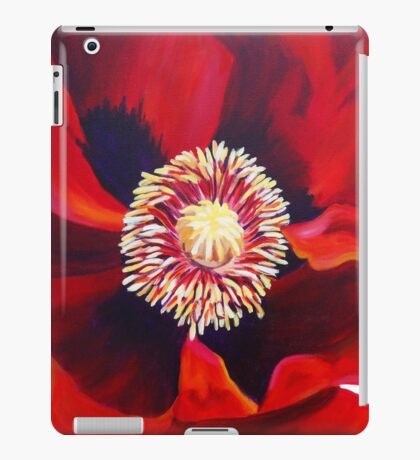 Big Red Poppy iPad Case/Skin