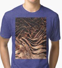 Macro Copper Abstract Tri-blend T-Shirt