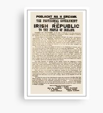 1916 Proclamation of the Irish Republic Canvas Print