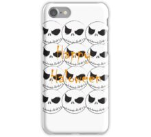 Jack Skeleton Happy Halloween iPhone Case/Skin