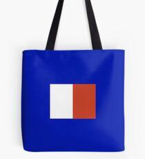 Nautical Code Flag H Tote Bag