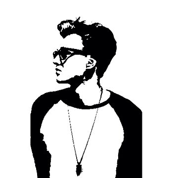 Tristan Evans Stencil by Charlize-Renay