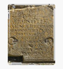 ancient gravestone iPad Case/Skin