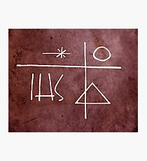 Religious symbols illustrations Photographic Print