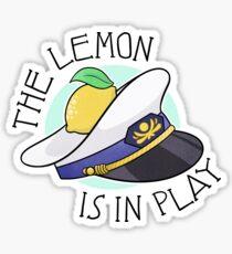 The Lemon is in Play Sticker