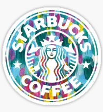 Painted Starbucks Logo Sticker