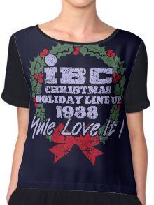 IBC Christmas Line Up Chiffon Top