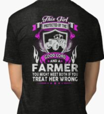 This Girl Protected By Farmer Tri-blend T-Shirt