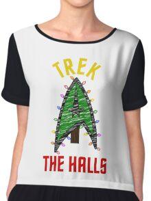 Trek the Halls  Chiffon Top