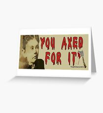Lizzie Borden Greeting Card