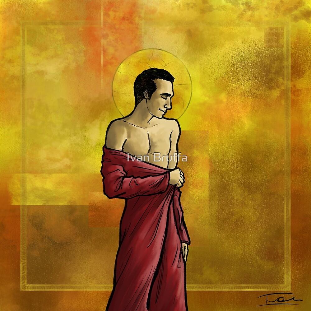 Red saint by Ivan Bruffa