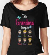 This Grandma belongs to Scarlett Clark Thomas Michael Peter Vincent Women's Relaxed Fit T-Shirt