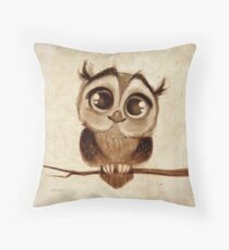 Doodles by David Kawena - Owl Throw Pillow