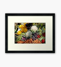 Variaty of vegetables Framed Print