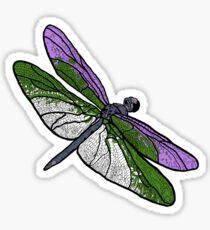 Genderqueer Dragonfly Sticker