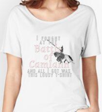 Camiseta ancha para mujer Luché en la batalla de Camlann