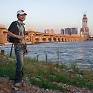 A Hiker Standing by the Han River by koreanrooftop