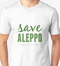 SAVE ALEPPO - GREEN  Unisex T-Shirt