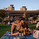 A Young Couple Picnicking by koreanrooftop