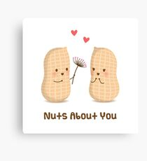 Nuts About You Cute Pun Humor Canvas Print