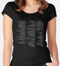 RegEx Cheat Sheet - Linux Geek Humor Women's Fitted Scoop T-Shirt