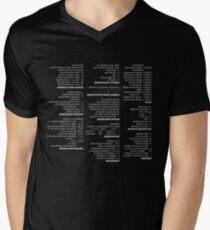 RegEx Cheat Sheet - Linux Geek Humor Men's V-Neck T-Shirt