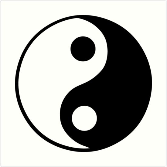 Yin Yang Symbol Art Prints By Sweetsixty Redbubble