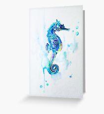 Watercolor Seahorse Greeting Card