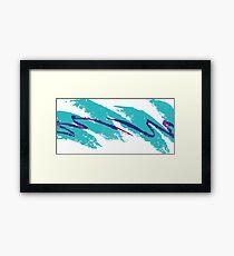 Aesthetic Vector Water  Framed Print