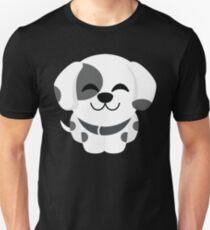 Dalmatian Dog Emoji Cheerful with Joy Look T-Shirt
