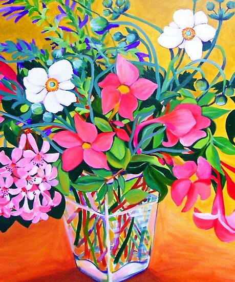 Floral Still Life by marlene veronique holdsworth