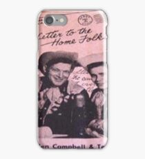 Letters To The Home Folks, Hillbilly, Western, Campbell iPhone Case/Skin