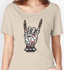 HEAVY METAL HAND SIGN - bloody Women's Relaxed Fit T-Shirt