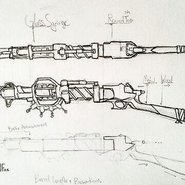 Steampunk Gun Blueprints by Steampoweredfox