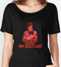 David S. Pumpkins - Any Questions? VI Women's Relaxed Fit T-Shirt