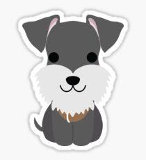Schnauzer Dog Emoji Happy Smiling Face Sticker
